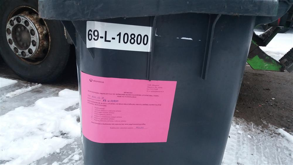"""""""Ekonovus"""" įspėja – netinkamai sutvarkytos atliekos išvežamos nebus"""
