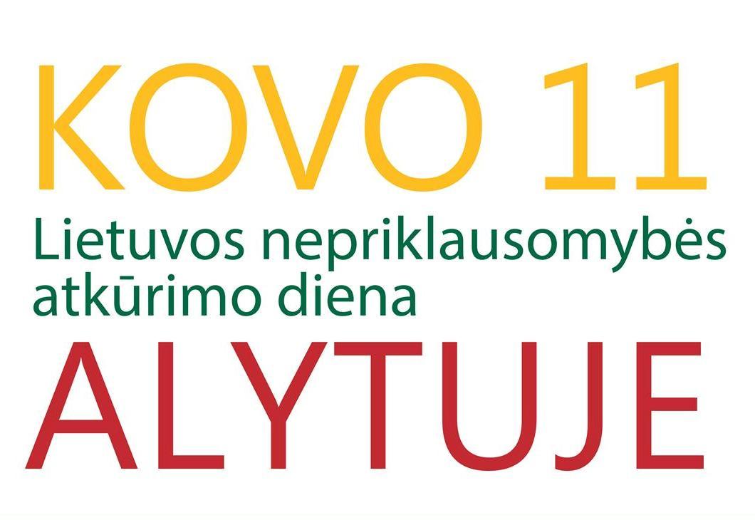 Informacija apie numatomus Kovo 11-osios renginius Alytaus mieste