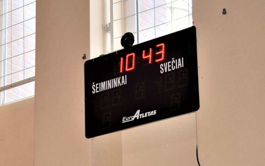 Dešimtyje Alytaus mokyklų sporto salių – švieslentės