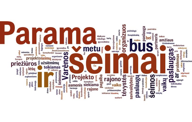 Varėnos rajone plėtojamos kompleksinės paslaugos šeimai