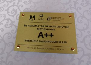 Varėnos krašte – pirmasis aukščiausios energinio naudingumo klasės pastatas Lietuvoje 1