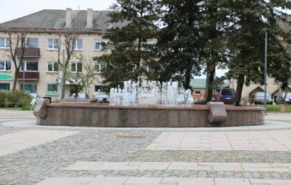 Jau veikia Senamiesčio skvero fontanas