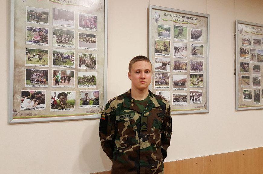 Jaunasis šaulys Naglis įsitikinęs, save realizuoti galės tik tarnaudamas šalies kariuomenėje