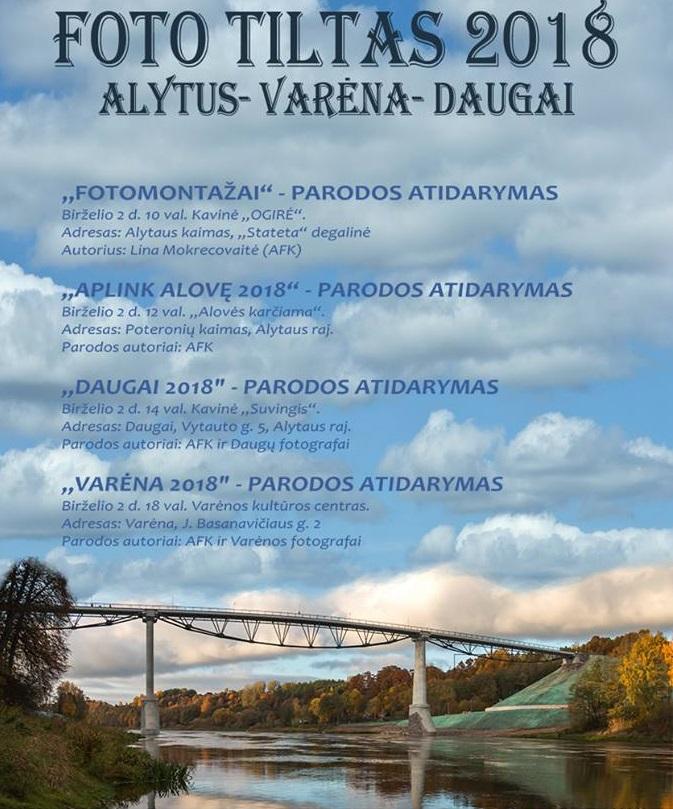 Per Dzūkiją nusidrieks antrasis fotografijos parodų tiltas