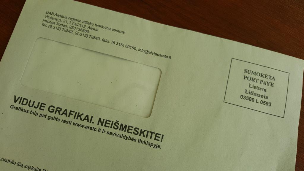Negavote mokėjimo už atliekas pranešimo? Pasitikrinkite adresą ir laiškų dėžutę