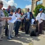 Alytuje prieškariu gyvenusi garsi žydų šeima pagerbta atminimo akmenimis 2