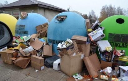 Už laiku neišvežtas atliekas – beveik 3 tūkst. eurų bauda