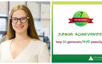 """""""JuniorAchievement"""" – tarp dešimties geriausių pasaulyje"""