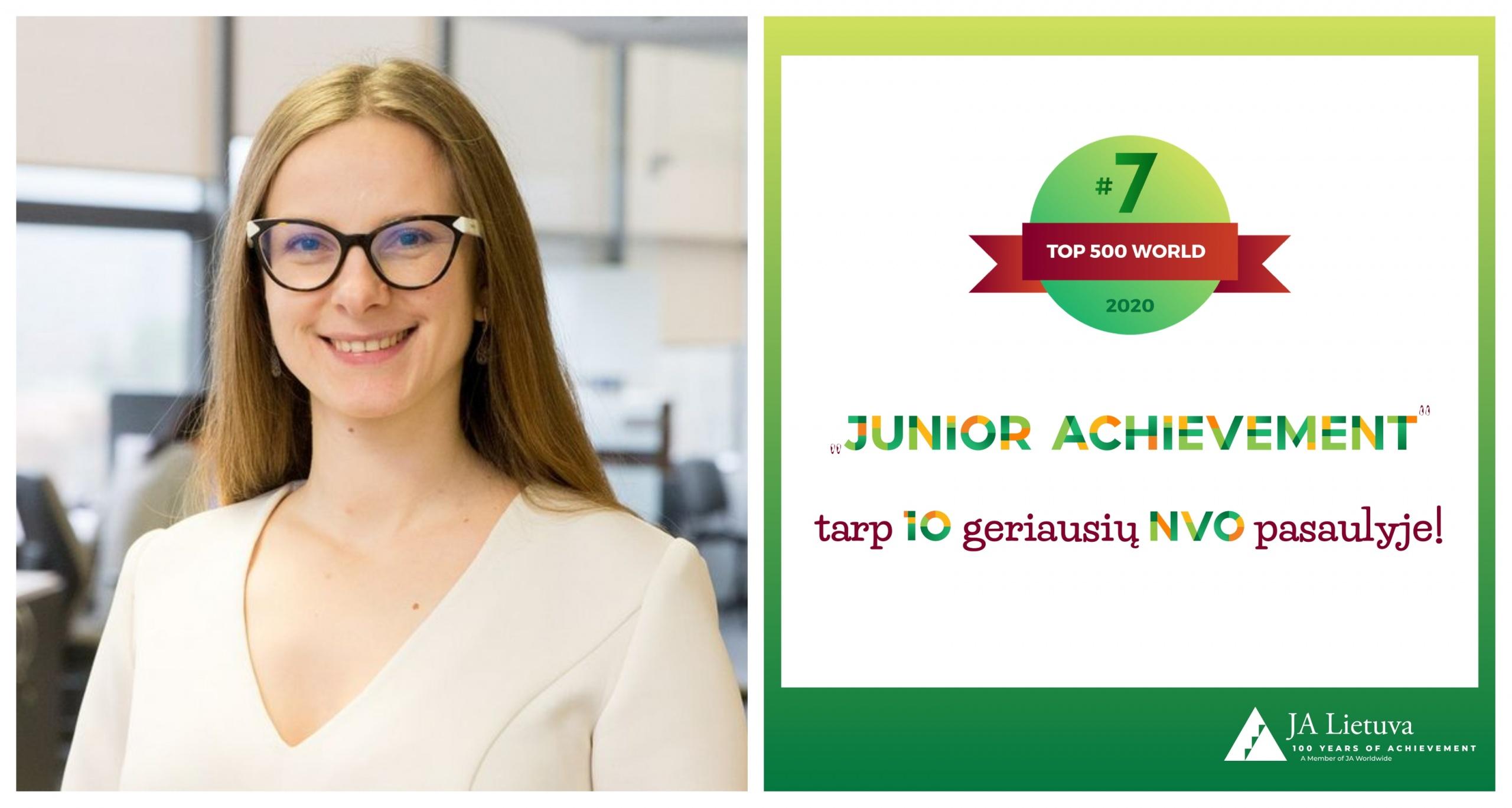 """""""JuniorAchievement"""" – tarp dešimties geriausių pasaulyje 1"""