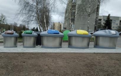 Alytiškių atliekoms – nauji konteineriai. Aikštelės jau paruoštos eksploatacijai