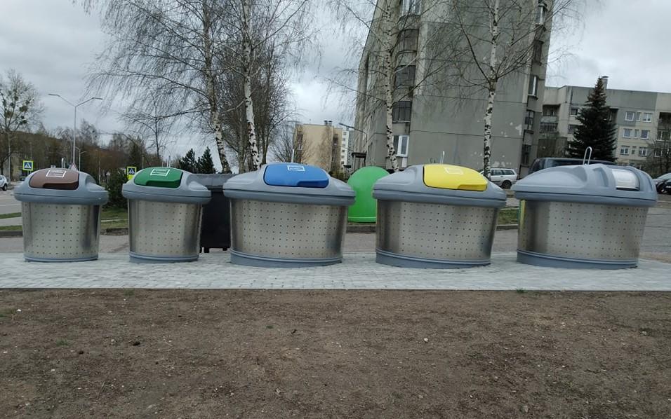 Alytiškių atliekoms – nauji konteineriai. Aikštelės jau paruoštos eksploatacijai 1
