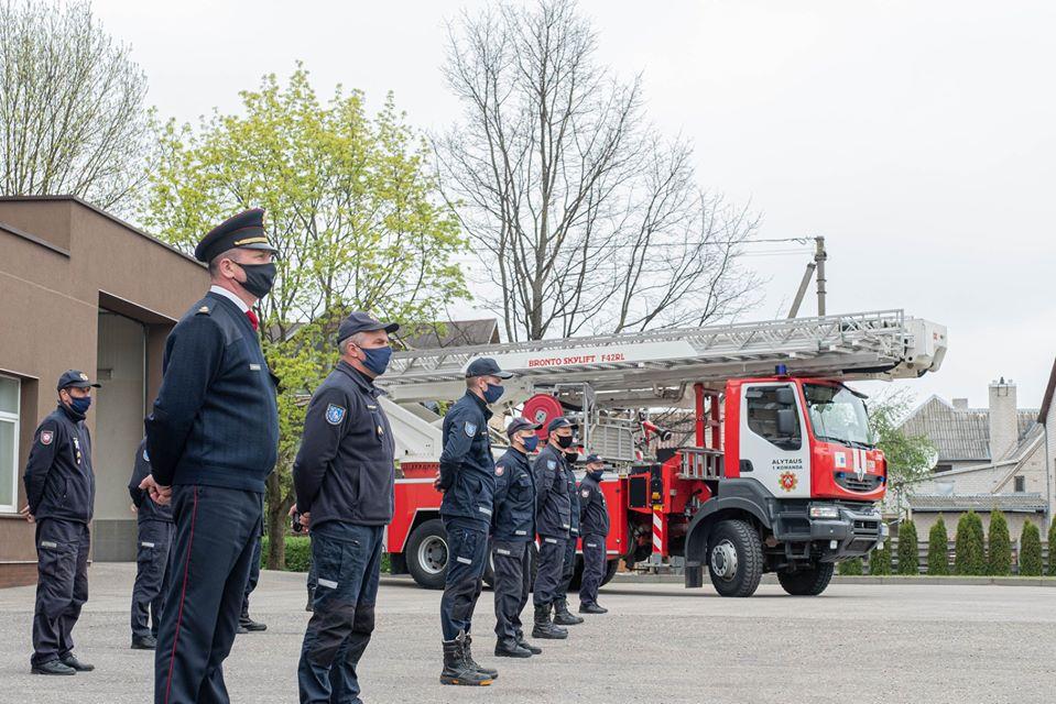 Alytaus ugniagesiams - padėkos už nepriekaištingą ir pavyzdingą tarnybą 1