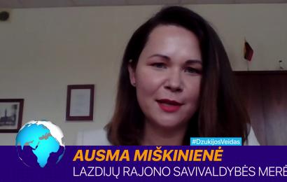 """""""Dienos tema"""" su Lazdijų rajono savivaldybės mere Ausma Miškiniene"""