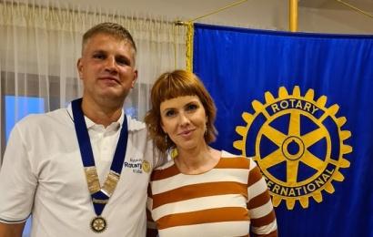 23-oji Alytaus Rotary klubo pradžia – su nauju prezidentu ir gėrio sauja 9-metei Viltei