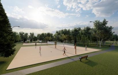 Alytaus Jaunimo parkas keičia veidą: atsiras 3 paplūdimio tinklinio aikštelės