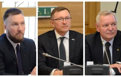 Į komisijas deleguoti E. Čečėta ir V. Jastremskas, Č. Daugėlos kandidatūra sukėlė abejonių
