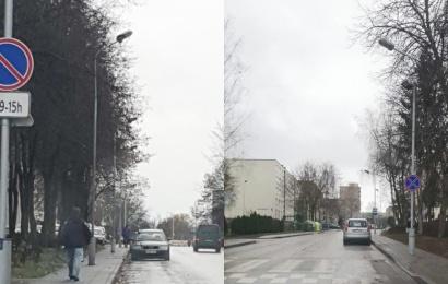 Ne laiku ir ne vietoje palikti automobiliai trukdo švarinti miesto gatves