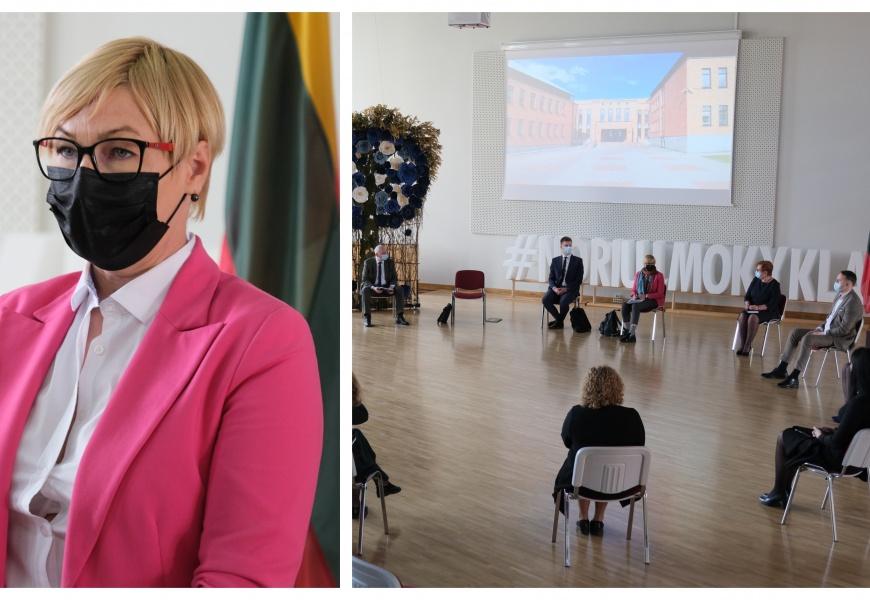"""Alytuje apsilankiusi švietimo ministrė: """"Situacija mieste ir rajone nuteikia optimistiškai"""""""