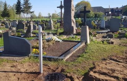 Alytaus rajono kapinėse įrengtas vandentiekis