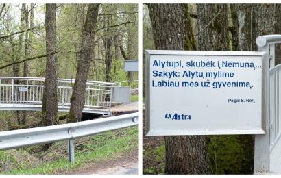 Dar viena dovana Alytui – tiltas per Alytupį