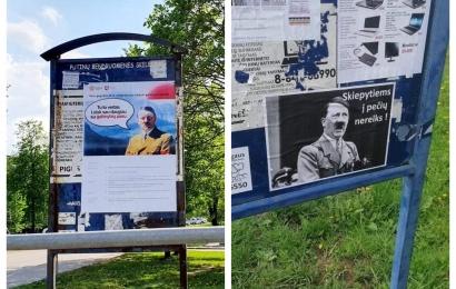 Hitlerio plakatų detektyvo Alytuje atomazga: policija pričiupo vyriškį