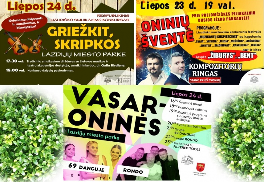Lazdijų krašto festivalyje ir vasaroninėse – sviestamušis, putų ir atlikėjų šou