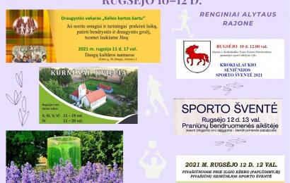 Savaitgalis Alytaus rajone: atviri Kurnėnai, sporto renginiai ir draugystės vakaras