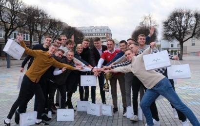 Alytaus savivaldybės vadovai priėmė futbolininkus, miestą garsinančius Vilniuje